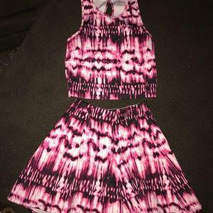 Crop Top Mini Skirt set size 8